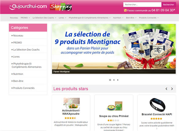 Aujourdhui.com Shopping Launched!