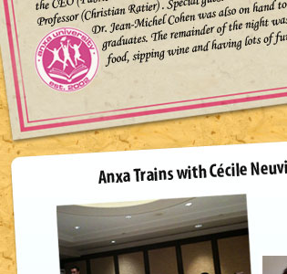 Anxa trains with C�cile Neuville